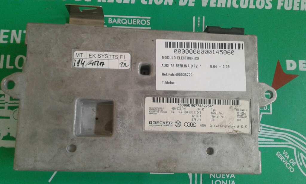 Modulo electronico de Audi A6 berlina (4f2) (2004 - 2008) 4E0035729